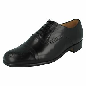 MENS GRENSON ST PANCRAS 35021 BLACK LEATHER BROGUE LACE UP FORMAL SHOES SIZE