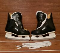 Vintage 70s Bauer Ice Hockey Skates Size 10 made in Canada,NEW! OFFERS ENCOURAGD
