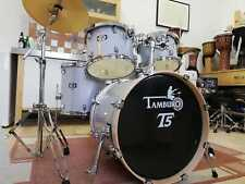 TAMBURO Schlagzeug T5 Serie sTANDARD in silver sparkle 22/10/12/14+SD+HW+Cymbals