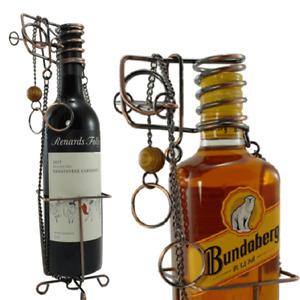 Metal Wine Bottle or Spirit Bottle holder puzzle