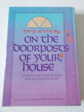 Doorposts of Your House Book Jewish Prayers Ceremonies Hebrew Religion Rabbi Art