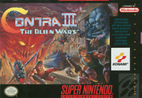 Contra 3 (III) The Alien Wars - SNES Super Nintendo - Cart Only - New Condition