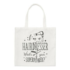 I'm A Hairdresser What's Your Superpower Small Tote Bag - Funny Shoulder