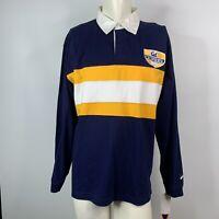 Cal Bears California Rugby Shirt L Blue Gold Reinforced Elbows Berkeley