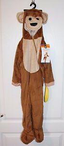 PLUSH INFANT TODDLER MONKEY COSTUME 12-24 MONTHS 1-2 YEARS NEW NWT HALLOWEEN
