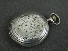 Collectable Old Longines Silver Pocket Watch Engraved Case