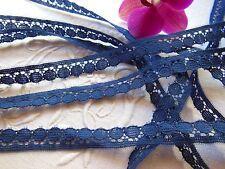 belle dentelle ancienne vintage bleu 10 mètres creation couture mercerie