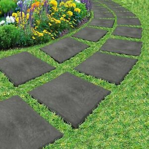 Stomp Stone Garden Stepping Stone Tiles Slate Paving Home Yard Walkway Plastic
