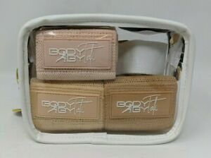 Body By Tati Buttercream Nude Resistance Band Set with Clear Carry Bag