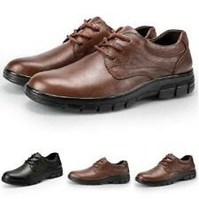 Mens Business Work Office Lace up Round Toe Casual Low Top Faux Leather Shoes L