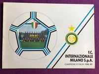 FOLDER 1989 INTER CAMPIONE D'ITALIA 1988/1989 EDIZIONE LIMITATA MOLTO RARO