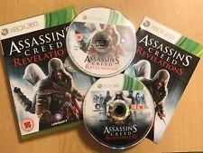 2 x XBOX 360 GAMES ASSASSIN'S CREED BROTHERHOOD + REVELATIONS PAL FORMAT