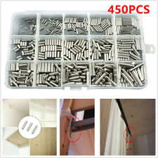 450 pcs M2 M3 M4 Stainless Steel Cylindrical Pin Set Repair Fasteners with Box