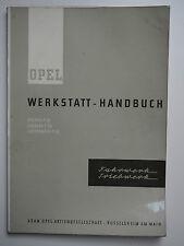 OPEL Werkstatt-Handbuch FAHRWERK Record P / Caravan P / Lieferwagen August 1961