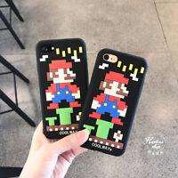 For iPhone 7 7Plus 6 6S Plus Silicone Super Mario Fashion Protective Couple case