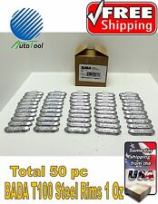 WHEEL WEIGHTS STEEL Clip on RIMS 1.00 Oz, 50 pc Box BADA T 100  MADE IN USA