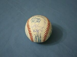 1992 Oakland Athletics team autographed baseball 26 signatures Canseco, McGwire