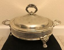 Vintage Silver Plated Chafing Dish With Pyrex Dish Italian Epz