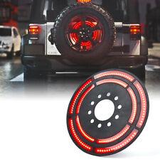 """Xprite 14"""" Dual Spare Tire LED Brake Light 3rd Wheel for Jeep Wrangler JK/JL"""