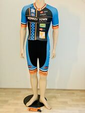 Cycling suit, speedsuit, long cycling shorts, socks, size M