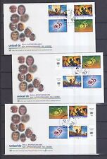 UNO Genf 1996 FDCs mit 16 verschiedenen Zusammendrucke von MiNr. 301-302