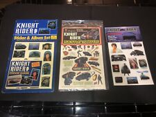1980's KNIGHT RIDER STICKERS & ALBUM, RUB-N-PLAY and PUFFY STICKERS Lot.