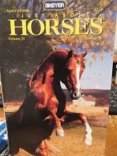 JUST ABOUT HORSES JAH Breyer 1996 Vol.23 #5 HUNT SEAT VS. SADDLE SEAT SHOW RING