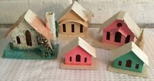 7 Vintage Putz houses villages Japan Taiwan Christmas Mica