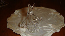 """Hand Blown Clear small Ship made in USA - Original 2 1/2"""" Tall"""