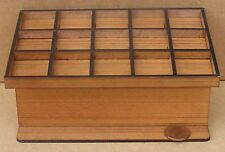 1:12 Scale Empty Wooden 15 Section Counter Dolls House Miniature Shop DDD HW