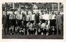 GERMANY ~ SOCCER TEAM & COACHES, POSED IMAGE, REAL PHOTO PC ~ dated 1932