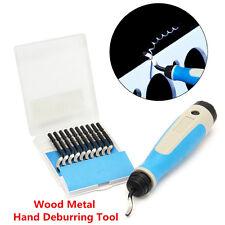 11pcs BS1010 S10 Blades Set NG1001 Burr Handle Hand Deburring Tool Wood Metal