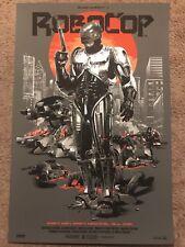 1987Robocop Peter Weller Movie Print Poster Mondo Grzegorz Domaradzki Gabz ED209