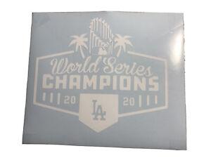 Los Angeles Dodgers World Series Champions Vinyl Decal