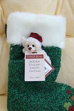 Charlie Bears Christmas Stocking calcetines árbol verde-BNWT
