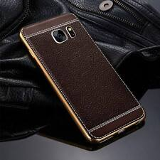For Samsung Galaxy S9 S8 J7 J5 Luxury Ultra-thin PU Leather Back Skin Case Cover