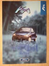 FORD KA BLUE 1998 UK Mkt sales brochure leaflet - Ka2