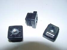 24 Stück Rohrstopfen 25 x 25 mm mit M10 Gewinde. Stopfen Quadratrohr + 10 mm