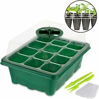 Stock Your Home 12 Cell Seed Starter Tray - 10 Pack