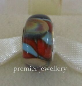 Genuine Chamilia Sterling Silver Glass Murano Sunset Seashell OB-188