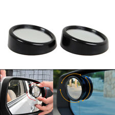 2pcs Black HD Side View Car Adjustable Blind Spot Wide Angle Rear Mirror #011