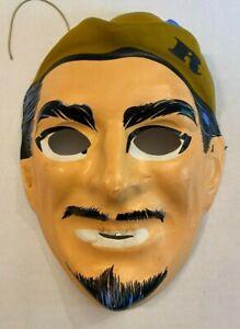 Vintage Robin Hood Halloween Mask Broken Strap 1960s Man Face Old Ben Cooper?