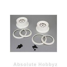 Losi Wheel & Beadlock Set, White (2), 5T - LOSB7033
