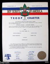 1956 BOY SCOUT - TROOP CHARTER - TROOP 161- MOUNT CARMEL, PENNSYLVANIA