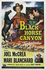 Black Horse canyon Joel McCrea Western movie poster print