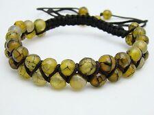 Shamballa bracelet  all 6mm DRAGON VEINS AGATE beads
