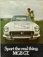 MG MGB GT 1970-71 UK Market Sales Brochure
