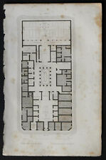 1836:POMPEI,Pianta Casa PANSA.Passpartout.AUDOT.Acciaio