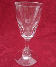 Antique Victorian Baluster Stem Faceted Funnel Bowl Wine Glass Plain Foot C 1850