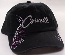 Hat Cap Chevrolet Chevy Corvette Ladies Bedazzled Black RK
